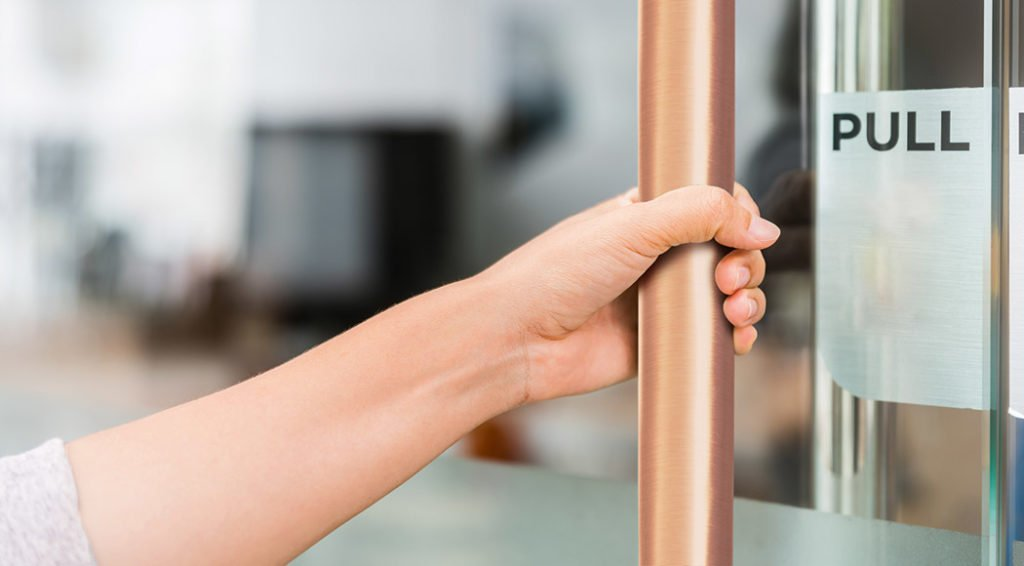 copper antimicrobial surface coverings