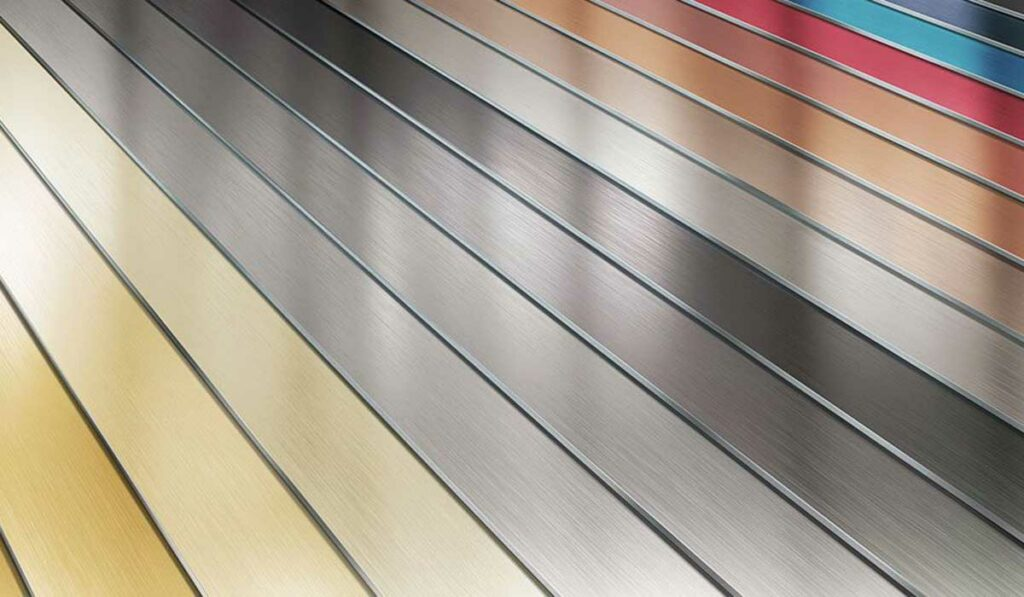 Decorative interior metal surfaces